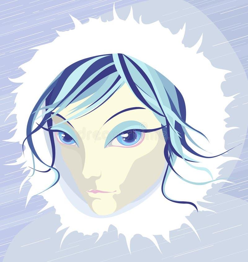 Snowgirl vektor abbildung