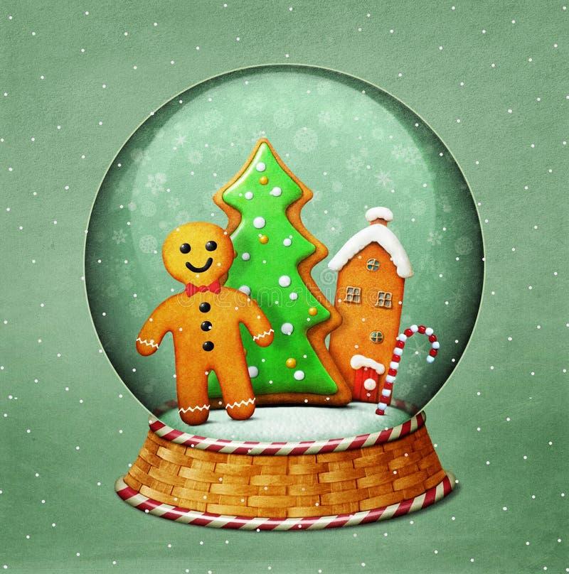 Snowglobe圣诞节 皇族释放例证