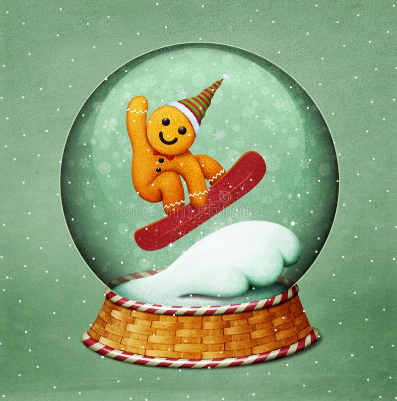 Snowglobe圣诞节 库存例证