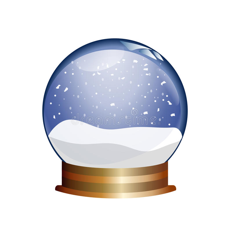 snowglobe royalty ilustracja