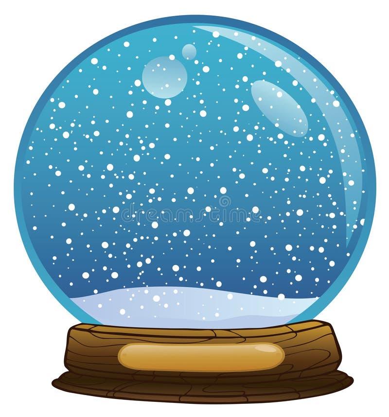 Snowglobe illustrazione vettoriale
