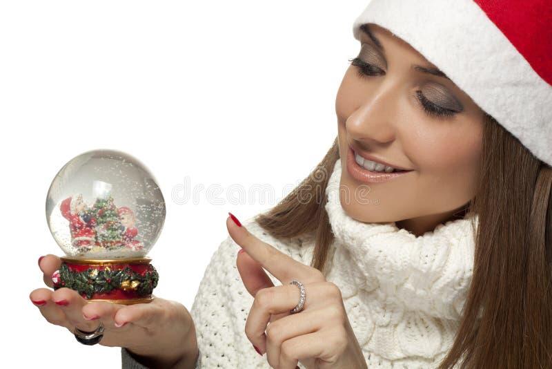 Download Snowglobe stock photo. Image of face, female, caucasian - 21784444