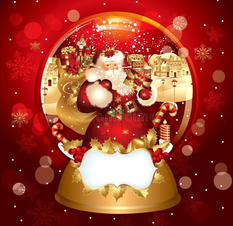 snowglobe claus santa