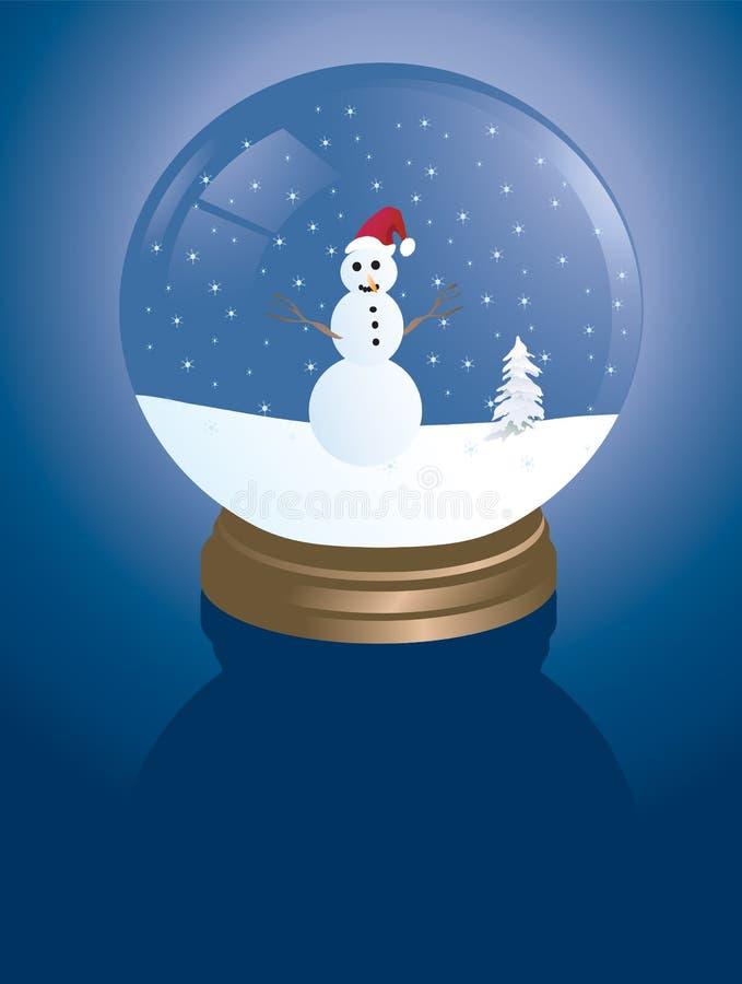 Snowglobe del muñeco de nieve imagen de archivo libre de regalías
