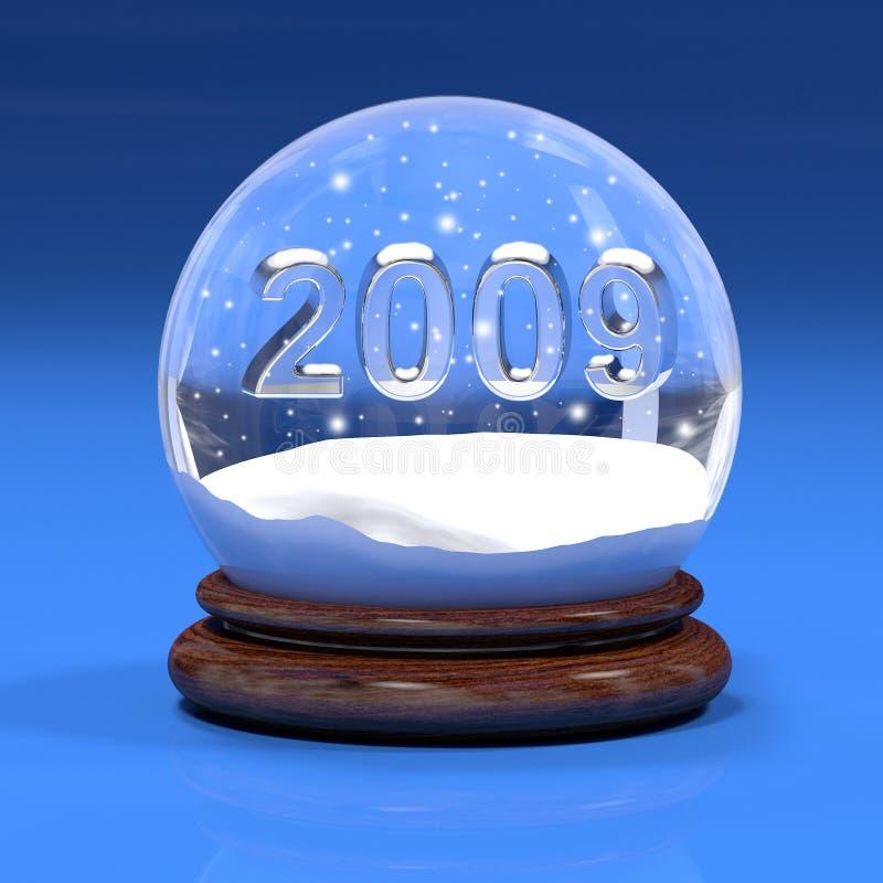 Snowglobe do ano novo ilustração do vetor