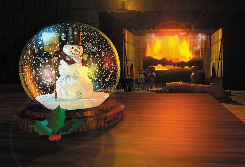 Snowglobe geeft terug royalty-vrije illustratie