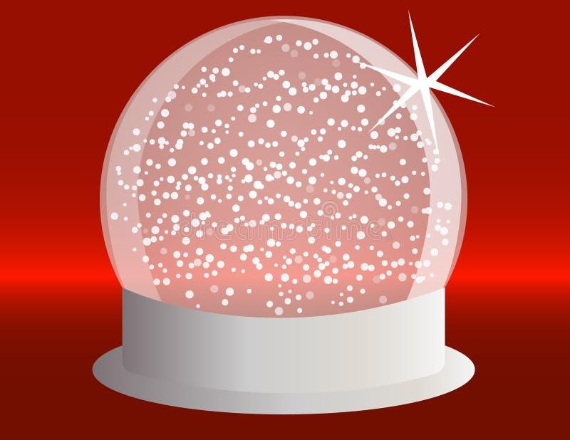 Snowglobe op een Zilveren Basis royalty-vrije illustratie