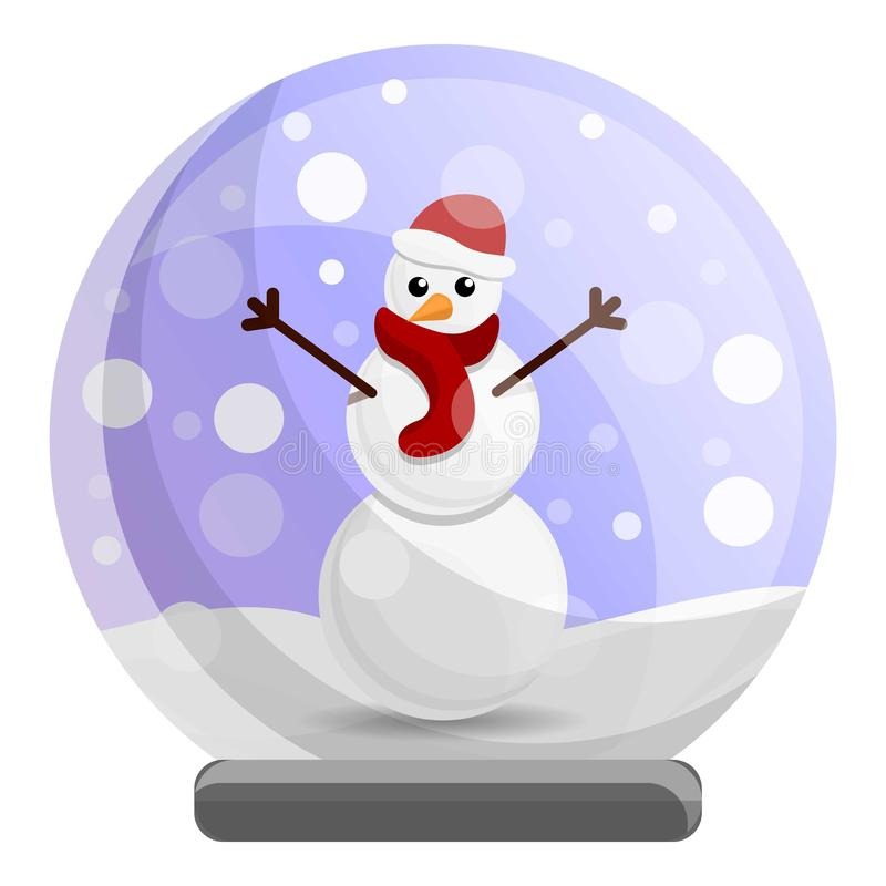 Snowglobe snowman icon, cartoon style. Snowglobe snowman icon. Cartoon of snowglobe snowman vector icon for web design isolated on white background royalty free illustration