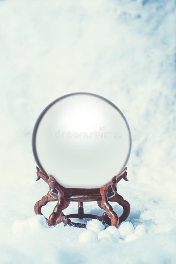 Snowglobe vacío fotos de archivo libres de regalías