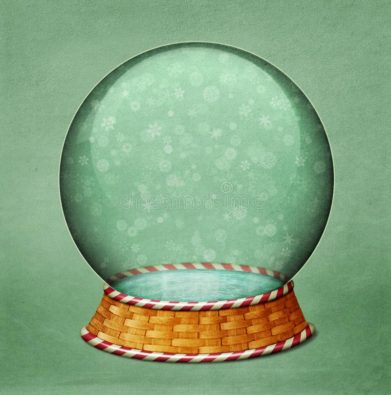 Snowglobekerstmis royalty-vrije illustratie