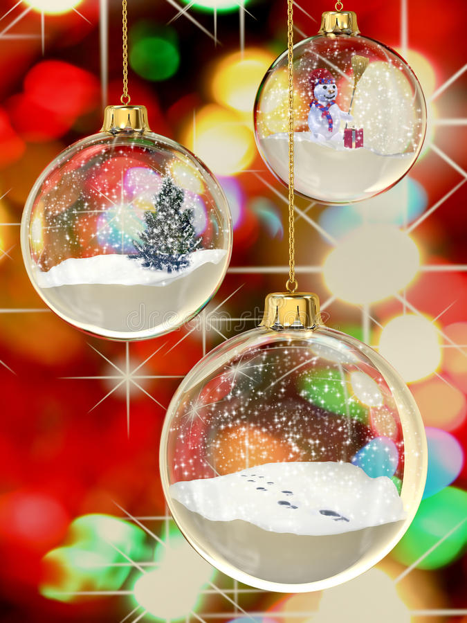 Snowglobes royalty-vrije stock afbeelding