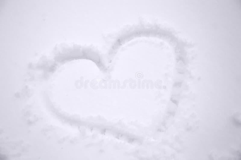 snowheart zima zdjęcie royalty free