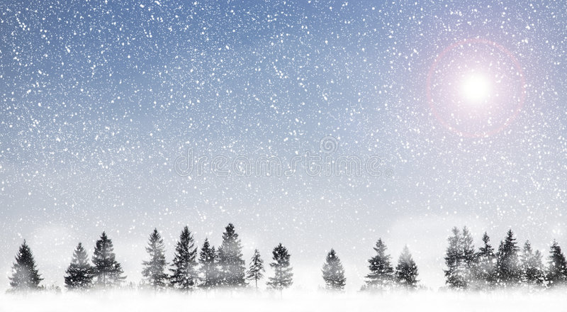 Snowing royalty free stock images