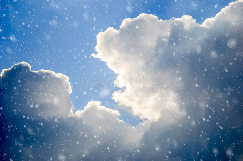 Snowing royalty free stock photo