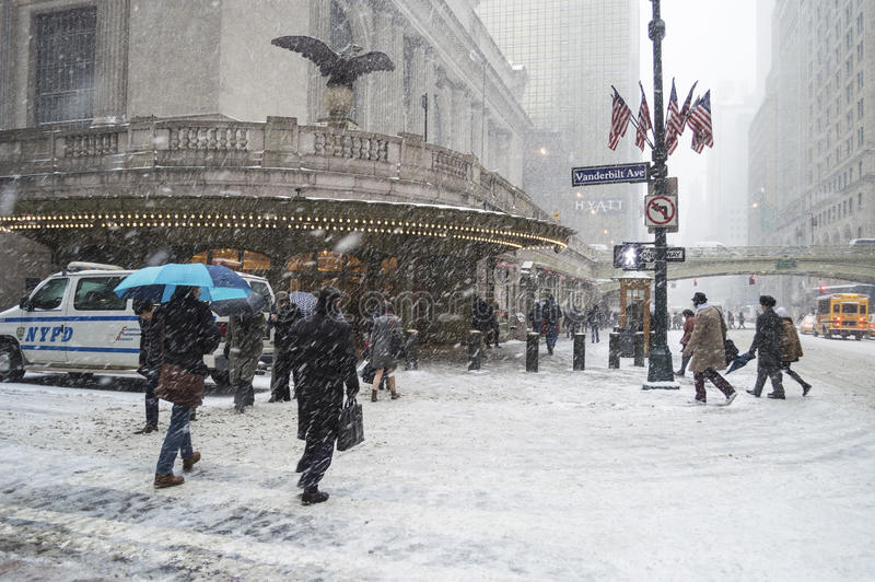 Snowing Grand Central