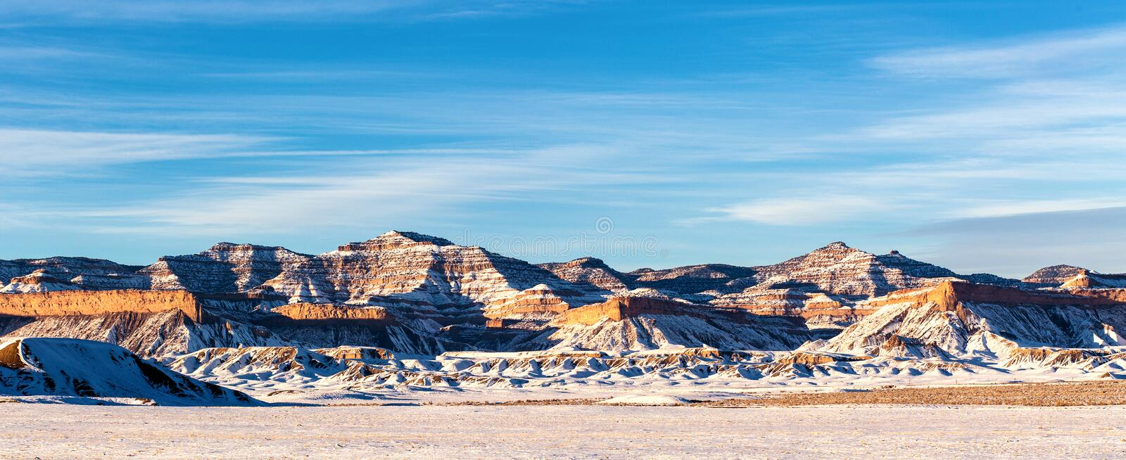 Snowing winter in them mountain side, Utah, USA. Snowing winter in them mountain side daylight in winter season, Utah, USA royalty free stock image