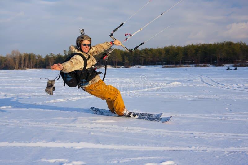 snowkiter obrazy royalty free