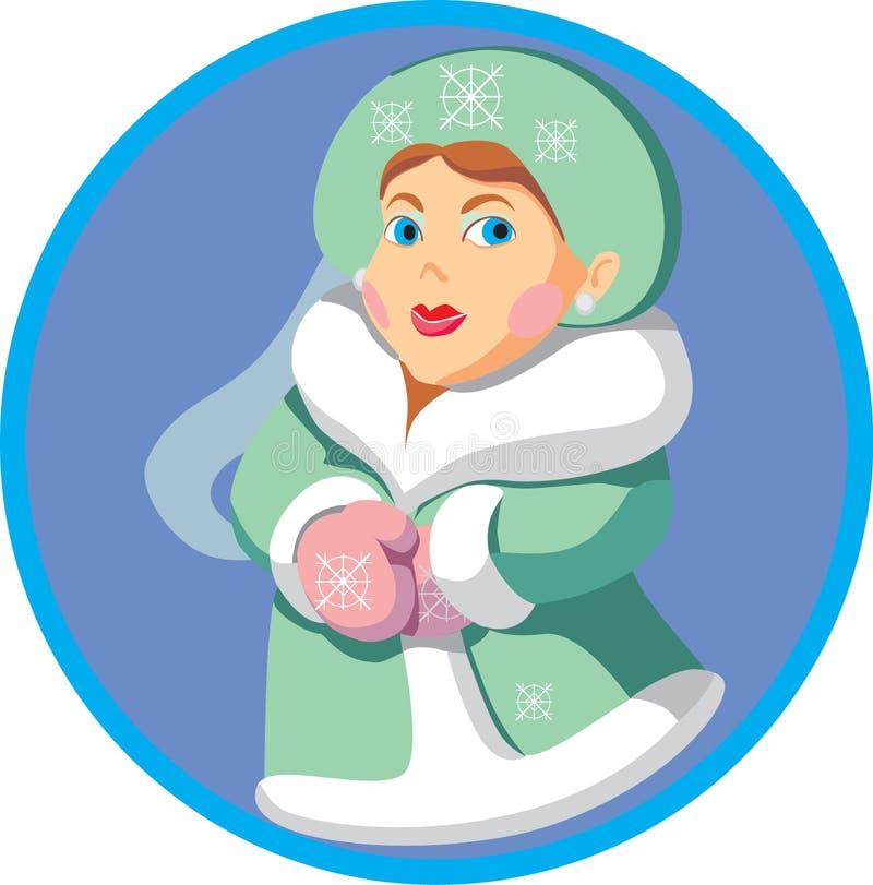 snowkvinnor royaltyfri illustrationer