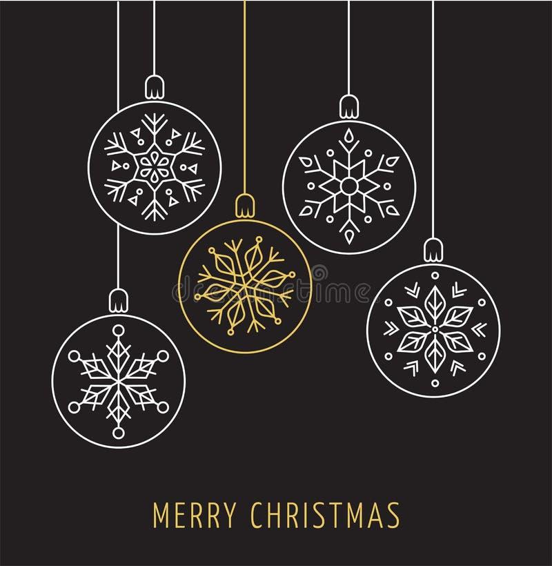 Snowlakes, ornamento geométricos do Natal, fundo ilustração stock