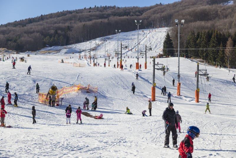 Snowland долины Valcianska лыжного курорта Горы Tatras Словакия стоковая фотография rf