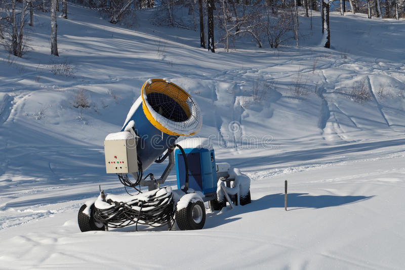 Snowmaking photo stock