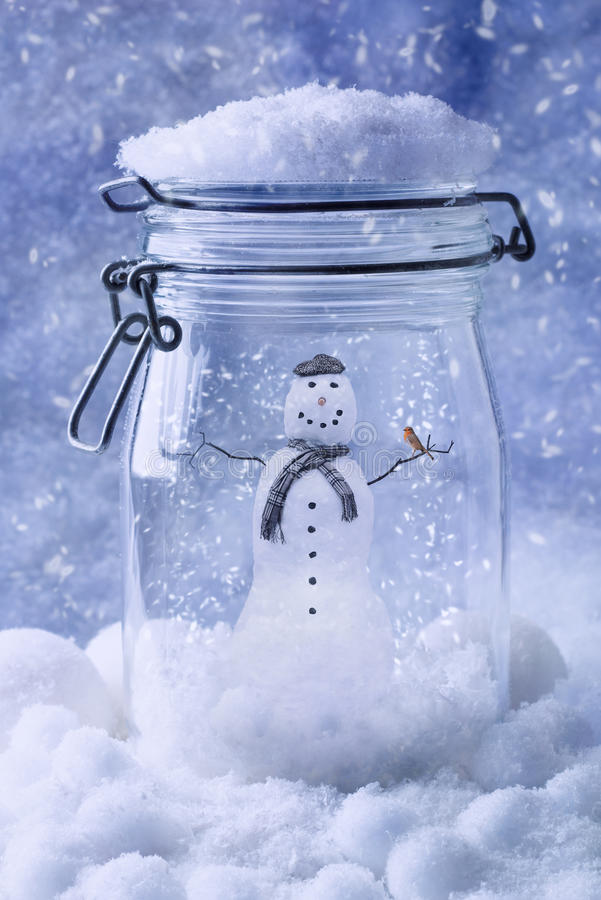 Snowmam royalty free stock photography