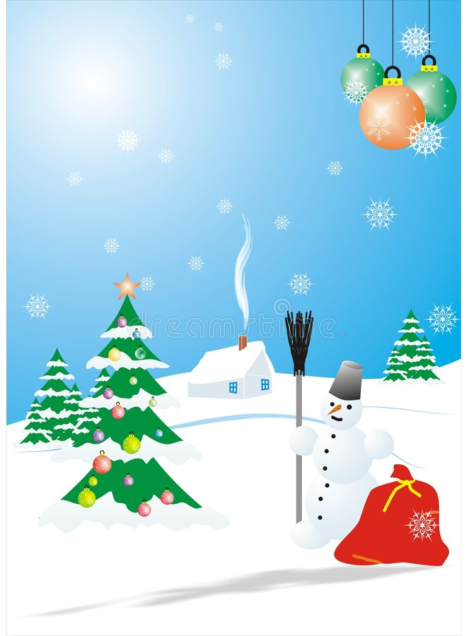 Snowman_1 royalty free stock images