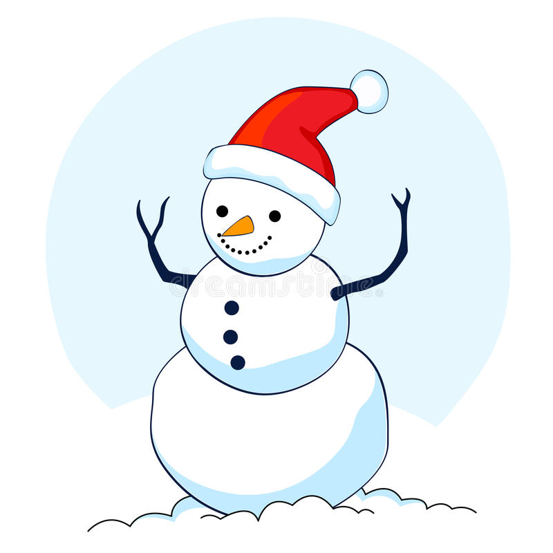 Download Snowman stock vector. Illustration of greetings, snowflakes - 11224232