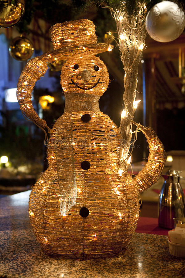 Download Snowman stock image. Image of lighting, happiness, figurine - 12226061