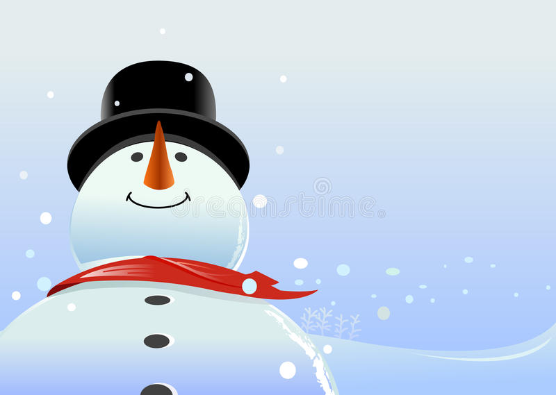 Download Snowman stock vector. Image of smiling, snowflakes, christmas - 13168554