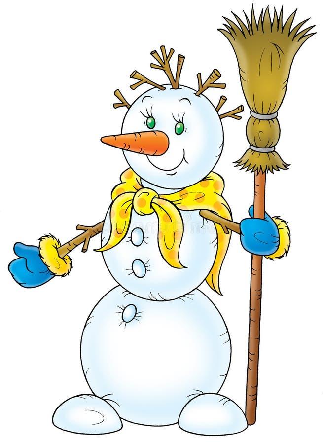Snowman stock illustration
