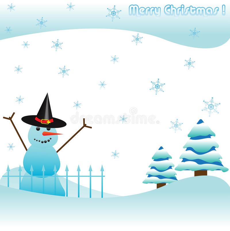 Download Snowman stock vector. Illustration of nature, holiday - 16544537