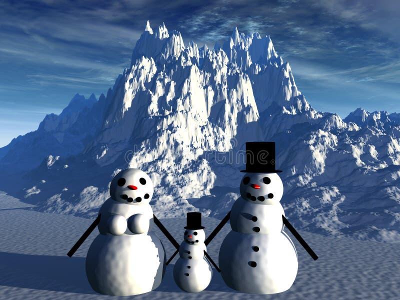 Snowman 17 stock illustrationer