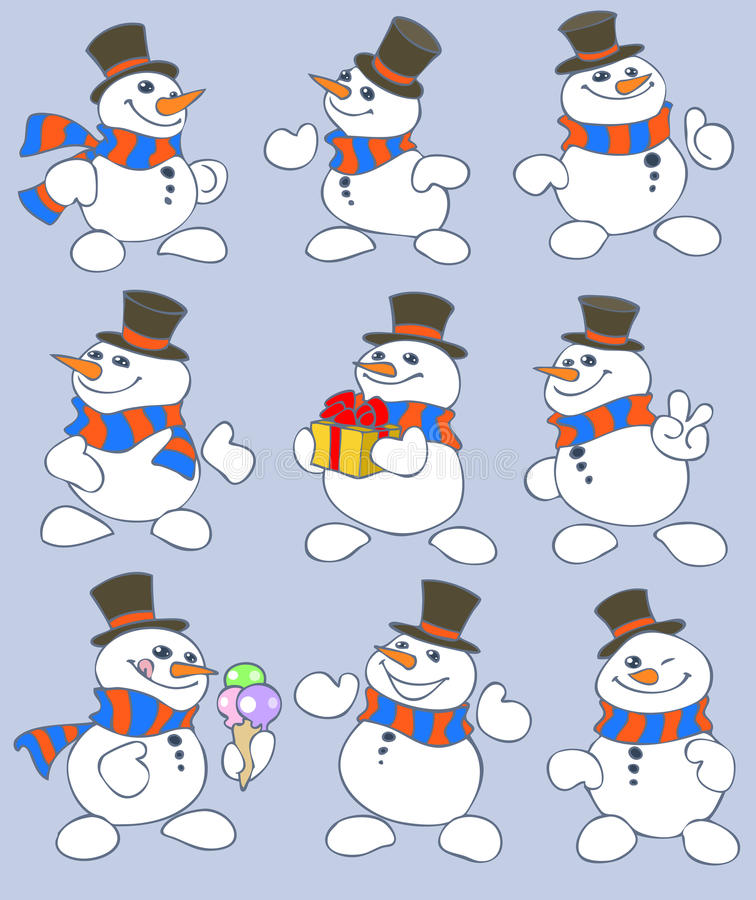 Download Snowman stock vector. Illustration of congratulation - 17016144