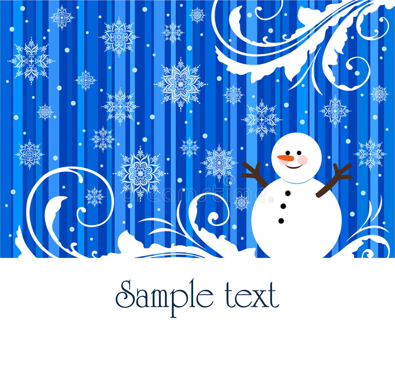 Download Snowman stock vector. Image of decoration, greeting, frost - 17495080