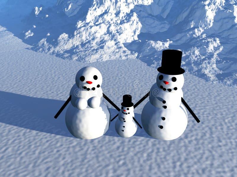 Snowman 18 vektor illustrationer