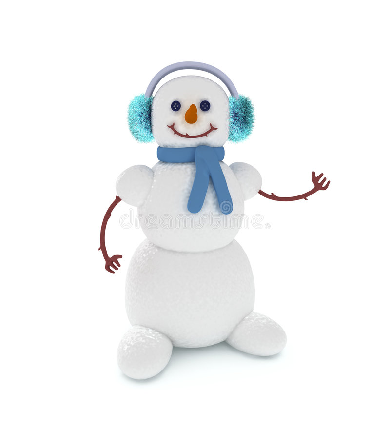 Free Snowman 2 Stock Image - 7153551