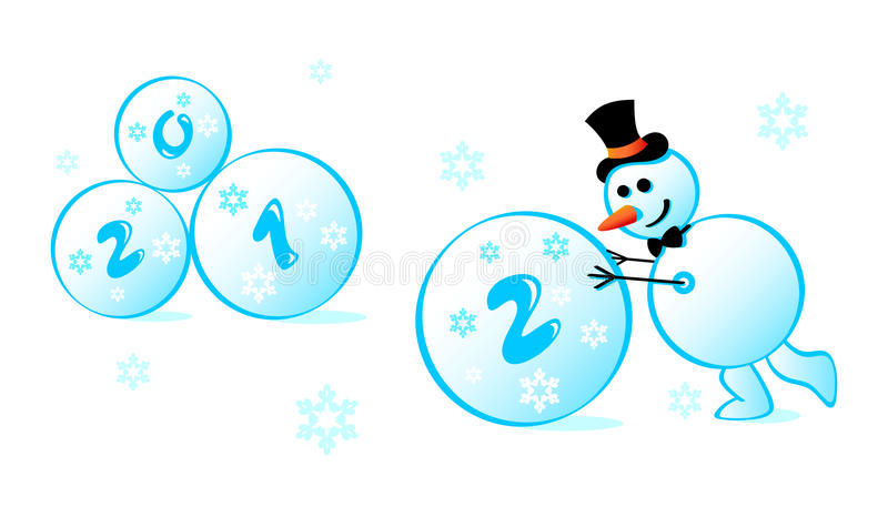 Download Snowman 2012 Stock Photography - Image: 21697252