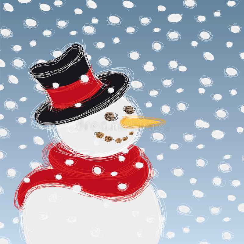 Download Snowman stock vector. Illustration of wool, blue, party - 21904621
