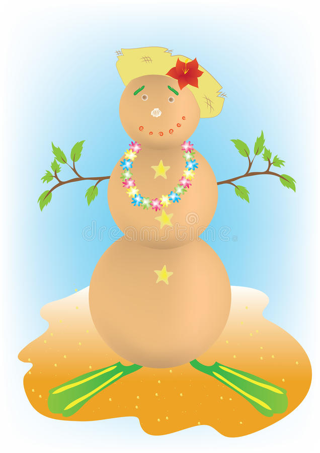 Download Snowman stock vector. Image of vacation, destinations - 22028865