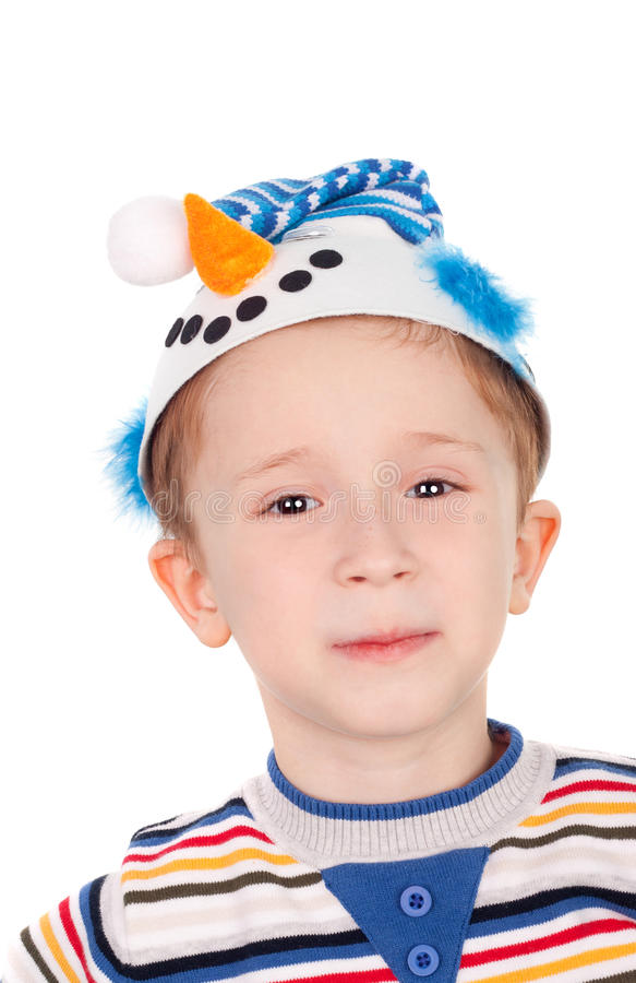 Download Snowman stock photo. Image of cheerful, caucasian, costume - 22316916
