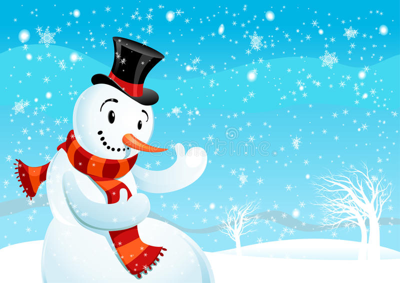 Snowman vector illustration