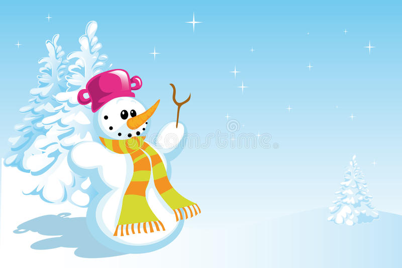 Download Snowman stock vector. Illustration of snowy, cold, childish - 26283191