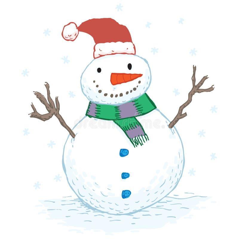 Download Snowman stock vector. Image of christmas, button, santa - 27546648