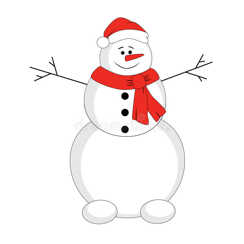 Download Snowman stock vector. Illustration of holiday, carrot - 27873481