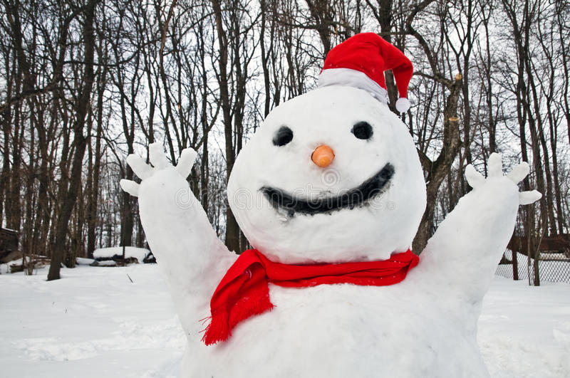 Download Snowman stock image. Image of scarf, santa, snowman, spring - 28035329