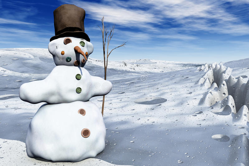 Download Snowman in 3D stock illustration. Illustration of blue - 27270483