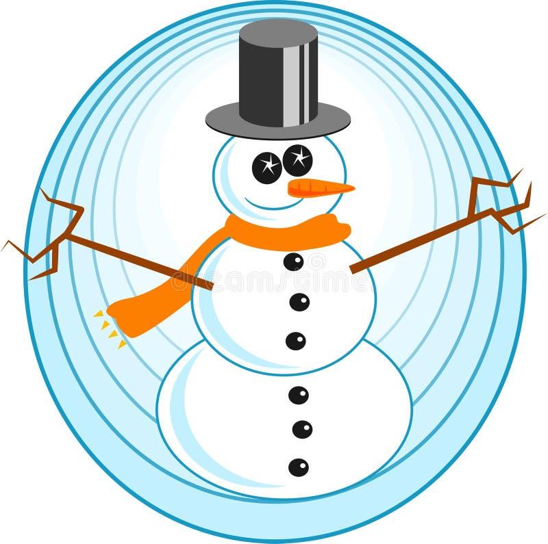 Download Snowman vektor illustrationer. Bild av festivities, hatt - 43254