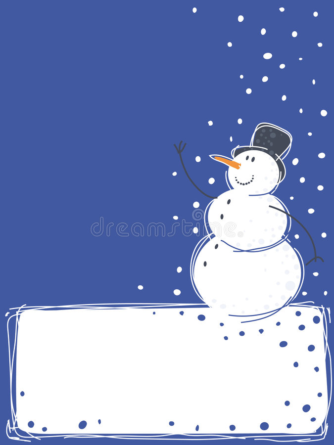 Download Snowman stock vector. Image of snowman, white, christmas - 6877397