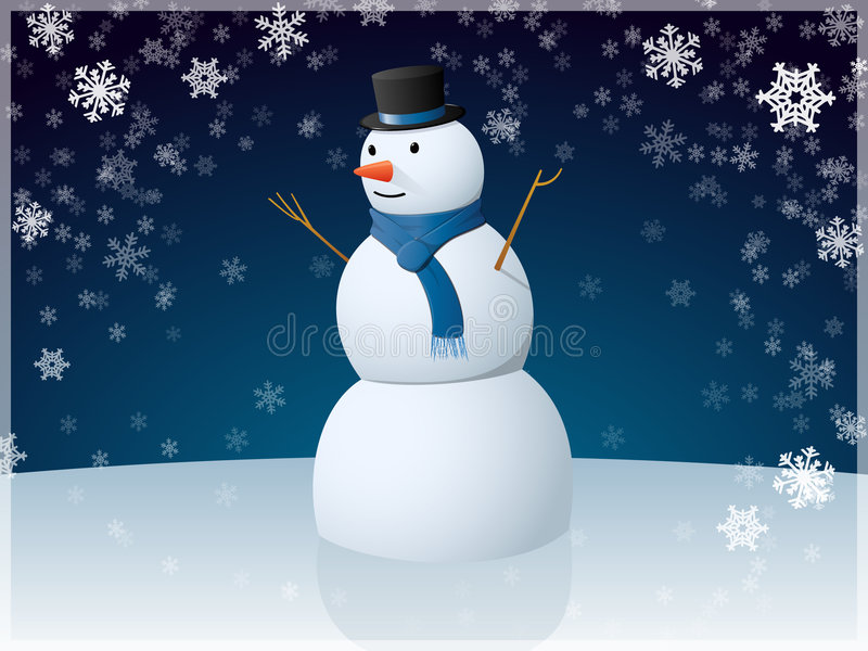 Snowman. Excellent vectors snowman. Use as part of its winter design. Additional format contains AI10 vector illustration